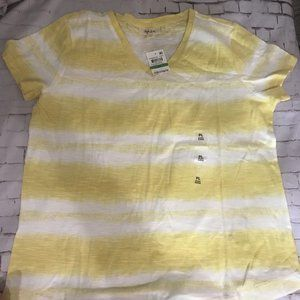 Style & Co Yellow Tie-Dye Petite Large Shirt NWT